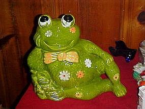 California Originals flower power, frog, cookie jar
