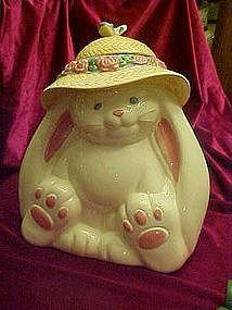Treasure craft flopsy bunny rabbit cookie jar