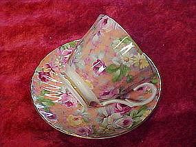 Marlborough bone china chintz cup and saucer set