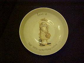 Holly Hobbie porcelain coaster,  Love is......