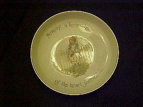 Holly Hobbie porcelain coaster, Memory... a keepsake...
