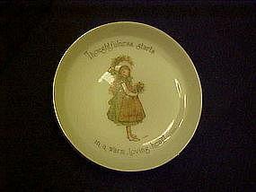 Holly Hobbie porcelain coaster, Thoughtfulness starts..