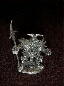 Miniature Ral Partha pewter battle warrior figure, TSR