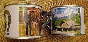 Bonanza tin souvenir cups, Ponderosa ranch, Nevada