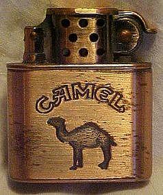 Camel brushed copper lighter