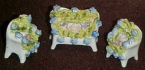 Miniature china parlor set, with flowers,Germany
