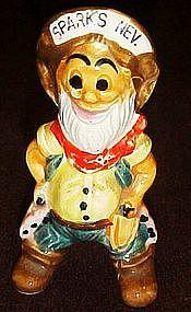 Sparky, Figural salt shaker,  Sparks Nevada souvenir