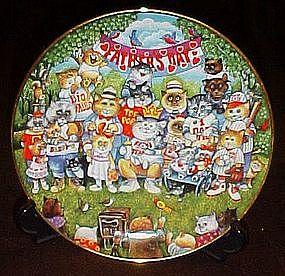 Bill Bell Purrfect Pops, collector plate, box & cert