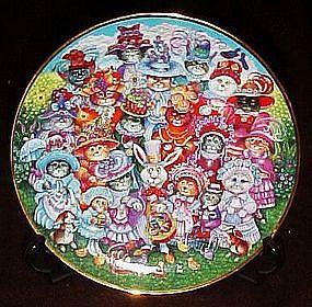 Bill Bell Easter Purrade, collector plate, box & coa
