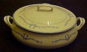 WS George covered round vegetable bowl,  laurel garland