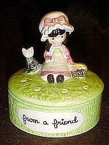 Joan Walsh Anglund ceramic trinket box, From a Friend