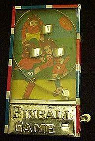 Vintage tin litho mini  pinball machine, football
