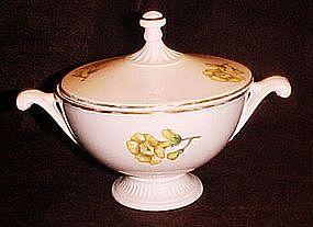 Vintage Buttercups pattern sugar bowl, Hall shape