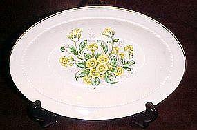Vintage Buttercups pattern oval vegetable bowl