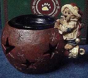 Boyds Edmund the elf bear, holiday glow votive. MIB