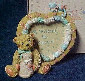 Cherished Teddies heart shaped photo frame, 910783