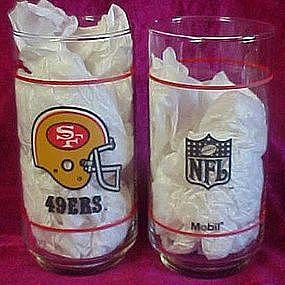 NFL San Francisco 49er  football drinking glass, Mobil