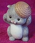 Avon porcelain grey squirel figurine 1992