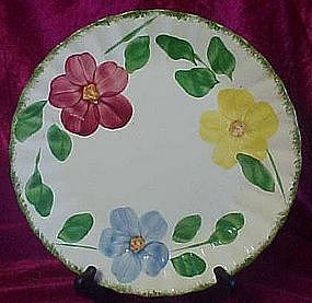 Blue Ridge Southern Potteries flower ring dinner plate