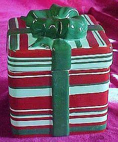 Christmas Present cookie jar, Festive!