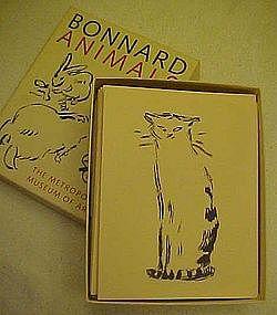 Bonnard Animals ,notecards, Metropolitan Museum of Art