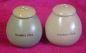 Shonfeld's China , advertising salt and pepper shaker