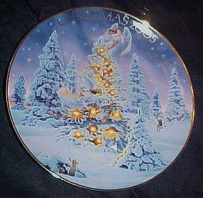 Avon annual Christmas plate, 2005,  Angel Lights.......