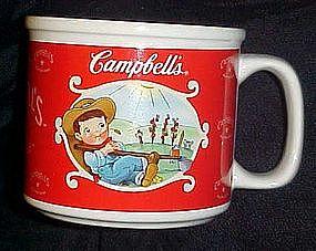 Campbells soup mug , kid gardening