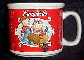 Campbell's soup mug, Campbell's kids in wheelbarrow