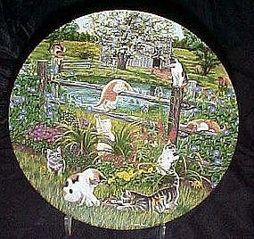 Meadow Mischief  plate by Higgins Bond, Garden Secrets