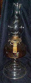 Vintage kerosene / oil lamp/ seaweed pattern