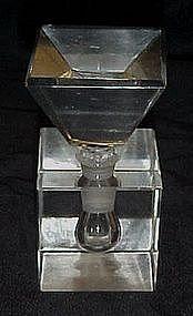 Vintage cut crystal perfume bottle