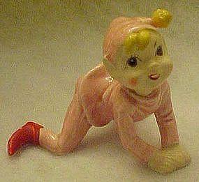 Rare Kreiss pink elf  figurine on hands and knees