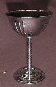 Vintage 30's chrome stemmed cocktail glasses