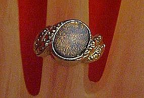 Pretty opal costume ring, size 5