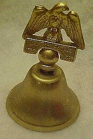 Brass bell with eagle, We the people 1787-1987