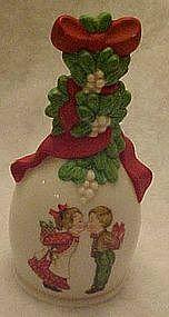 Avon porcelain bell, 1989 Under the mistletoe