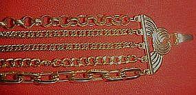 Vintage 5 strand chain bracelet, AWESOME!!