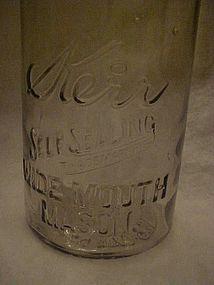 Kerr 1/2 gallon fruit jar, Sand Springs Okla,  1915.