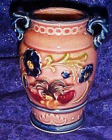 Vintage Japanese Majolica  pink vase