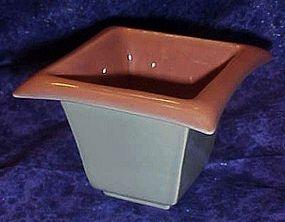 Amazing Eames era pink and grey square planter vase