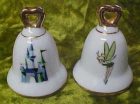 Disney souvenir shakers, Tinkerbell and magic Kingdom bell shape