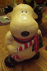 Silly reindeer, ceramic cookie jar