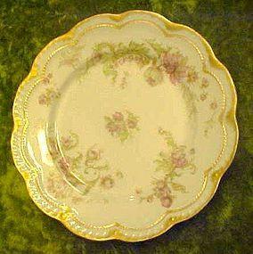 Antique Haviland Limoges Schleiger salad plate, florals