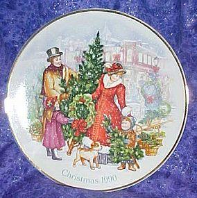 Avon Christmas 1990 plate, Bringing Christmas Home