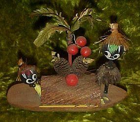 Vintage Black Island natives souvenir, made of wood
