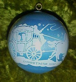 Hallmark 1982 Moments of Love Satin  ball ornament