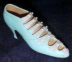 Collectible replica  figurine of Victorian  ladies shoe