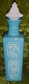 Vintage  Jim Beam Cameo blue decanter 1965