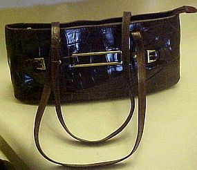 MAXX New York designer crocodile shoulder bag purse